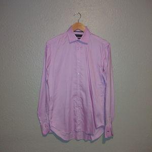 Zara men long sleeve button up dress shirt size 14